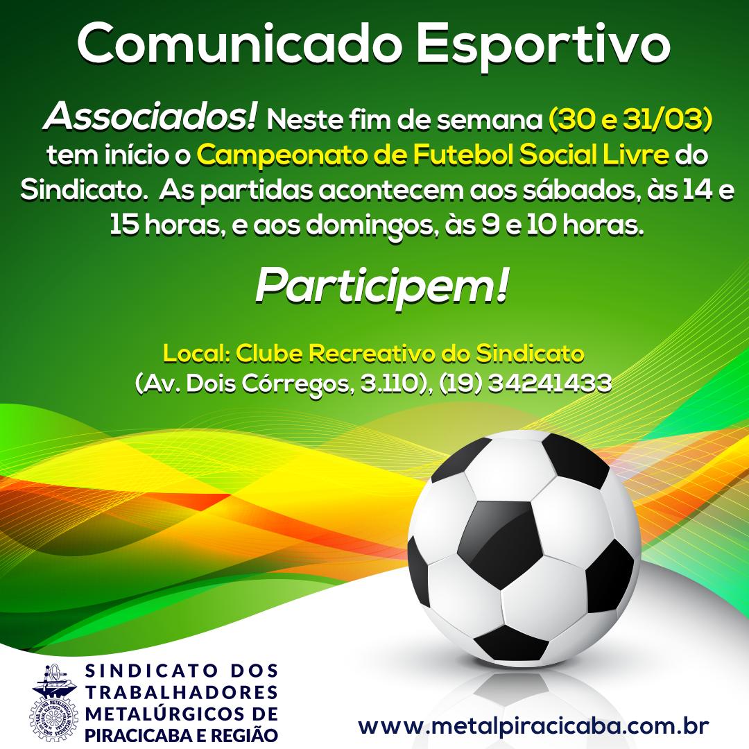 c80314d87 Comunicado Esportivo - Social Livre